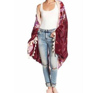 Free People Bali Wrapped in Blooms Kimono O/S New